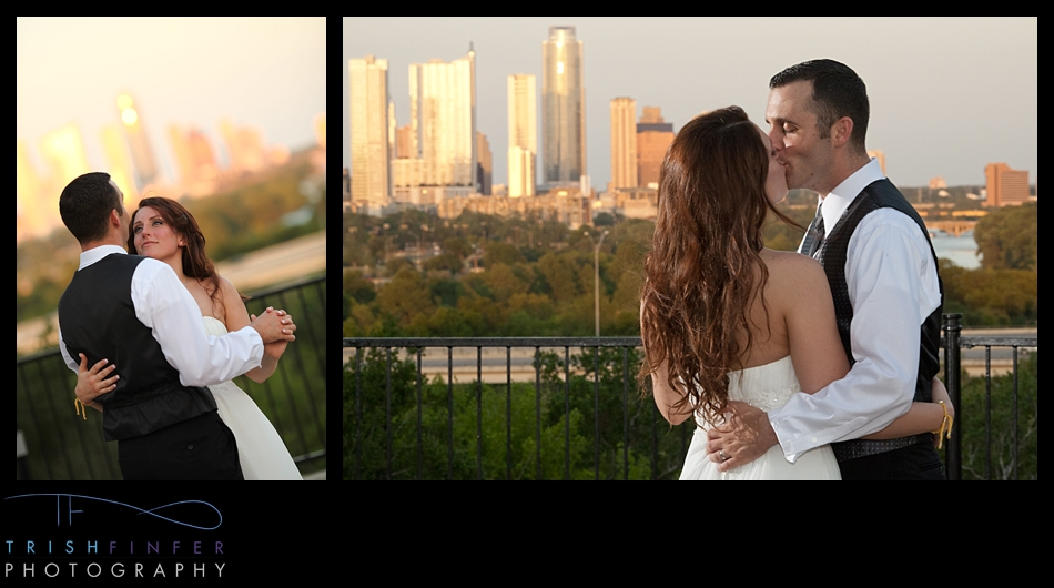 Wedding First Dance Austin Skyline