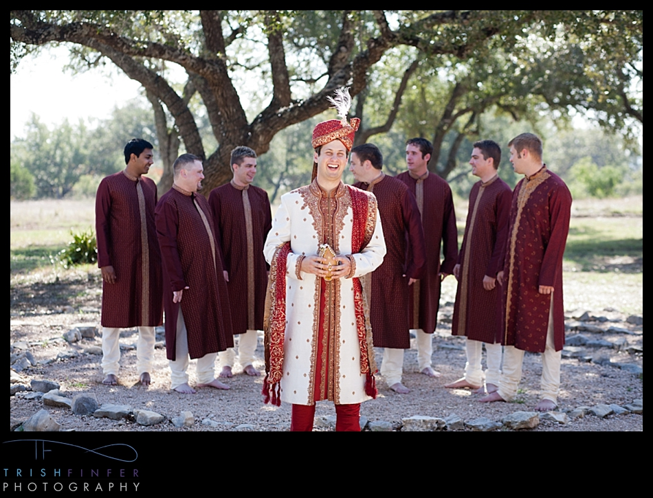 Hindu Groomsmen Wedding Party
