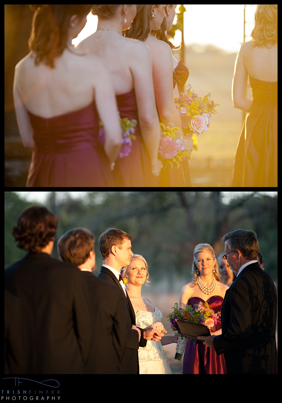 Sunset Wedding Ceremony Winery
