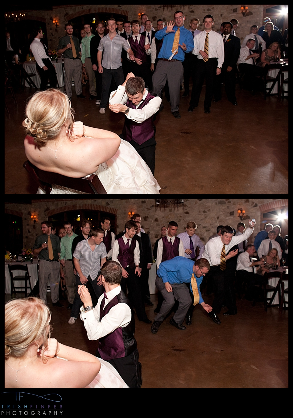 Garter Toss Wedding Reception