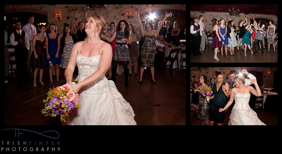 Bouquet Toss Wedding Reception