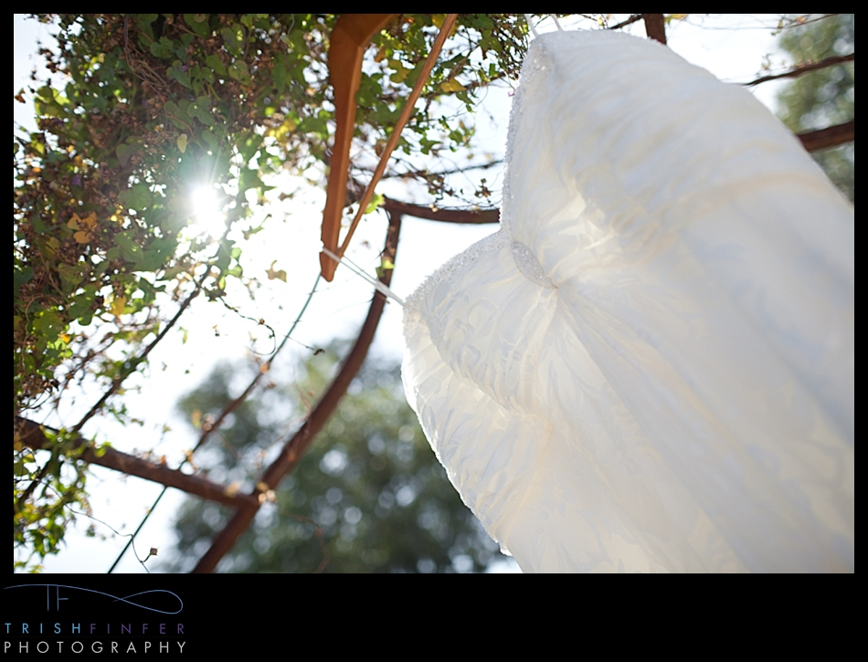 Wedding Dress Sun Flare
