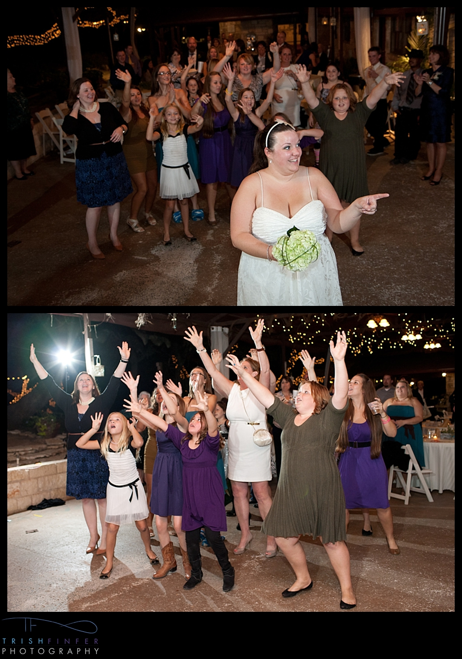 Bouquet Toss Bride Crazy