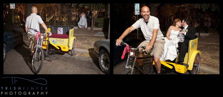 Bride Groom Pedicab Exit