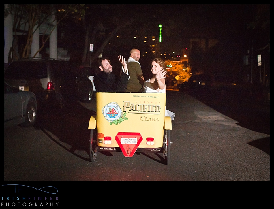 Pedicab Exit Bride Groom