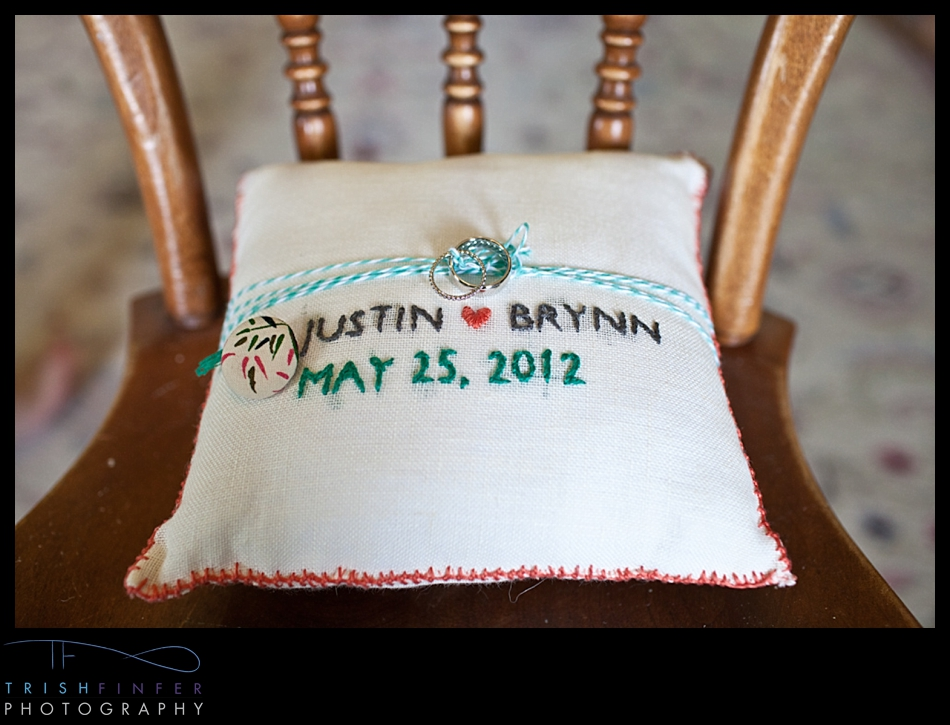 Cross-stitch Ring Pillow DIY