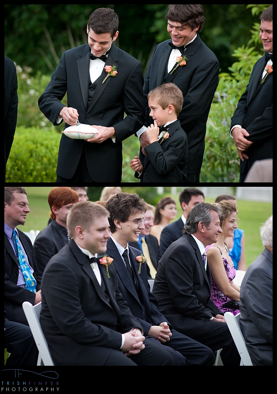 Wedding Rings Ceremony Laughing
