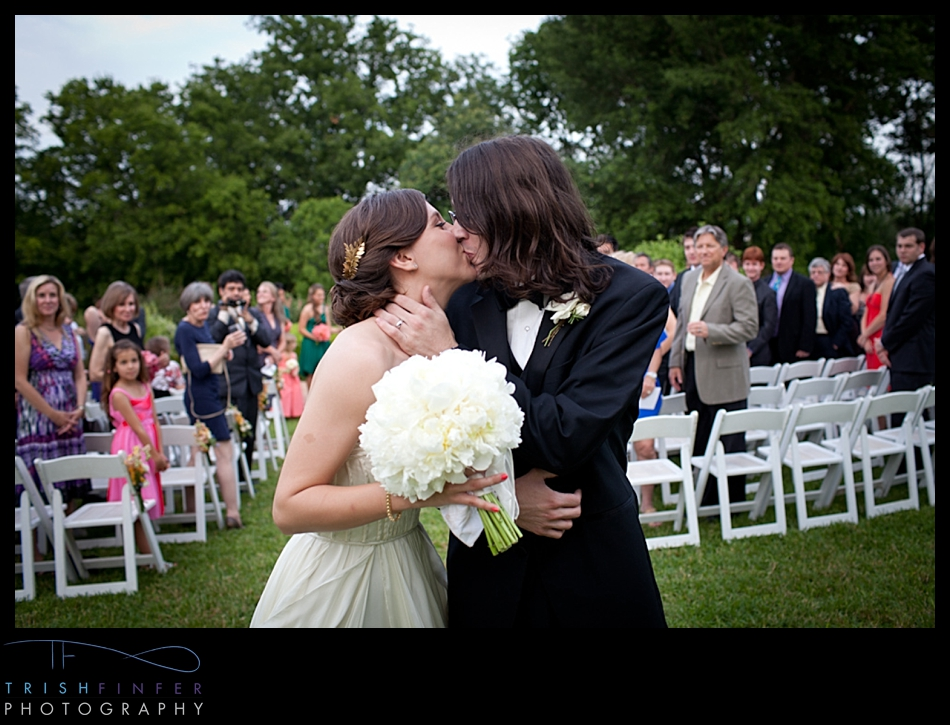 Husband Wife Kiss Wedding