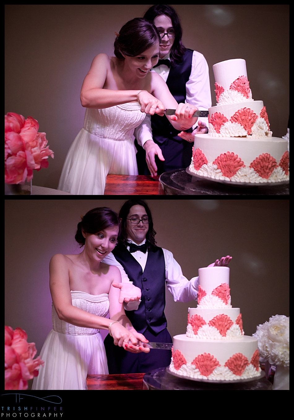 Bride Groom Cake Cutting