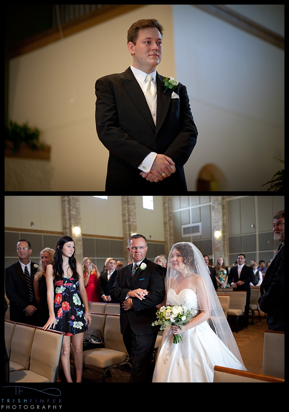 Bride Entrance Father Groom Reaction